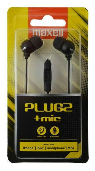 Maxell Plugz + mic fekete f 88ec8534d2